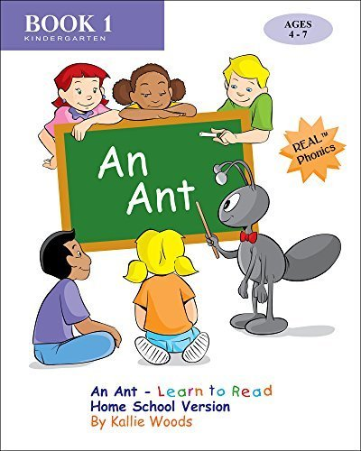 An Ant - Learn to Read, Book 1, Home School Version: By REAL - Vowel Worksheets Short