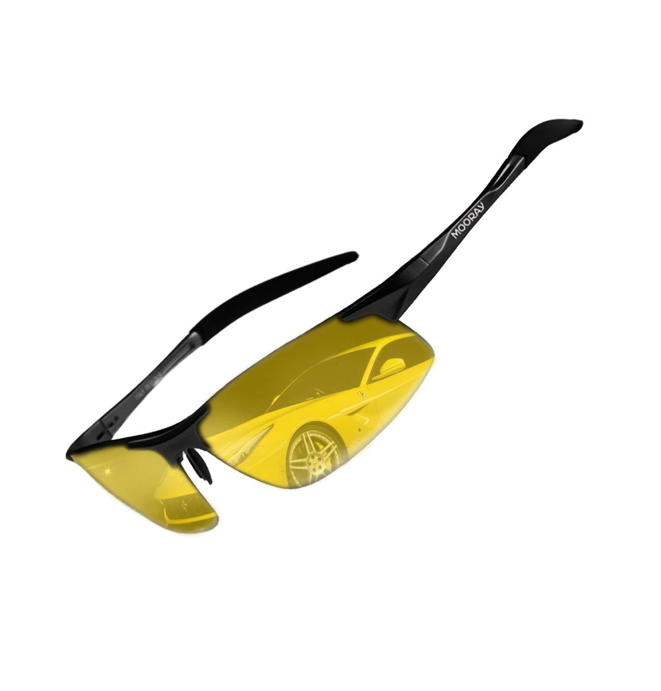 MOORAY Mens Night Driving Night Vision Glasses Fashion Sunglasses for Fishing Cycling (Hd Night Vision) by MOORAY