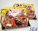 Korea Food Ottogi Jin Jjambbong Ramen 4+1ea Spicy Taste Delicious Noodles Easy Meals Party Food