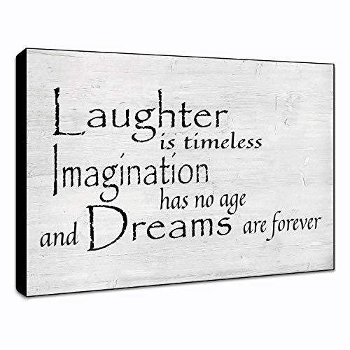 "LACOFFIO Laughter is Timeless Wall Art Wooden Décor Plaque 9"" x 6"" Housewarming Gift Idea"