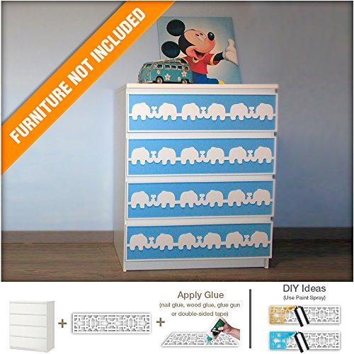Elephant Nursery Furniture Appliques by Home Art Decor's shop