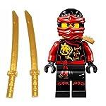 LEGO Ninjago Minifigure Kai Skybound with 2 Katana from Set 70591 70605  LEGO