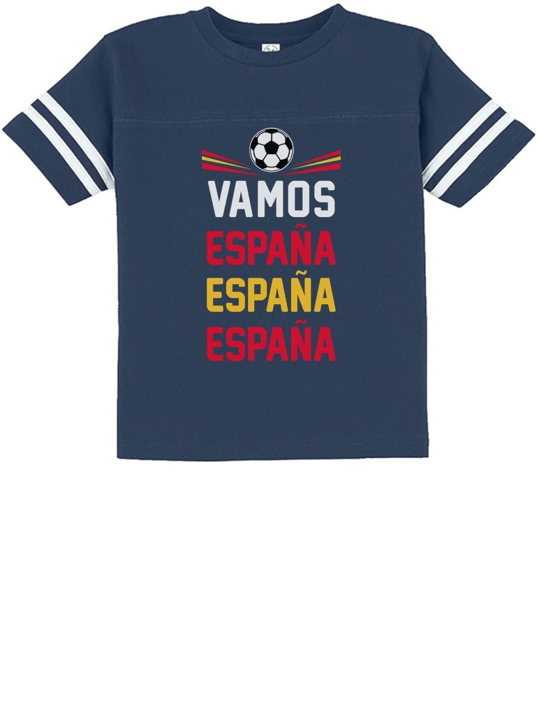 Tstars - Vamos Espana - Come On Spain Soccer Fans Toddler Jersey T-Shirt 2T Blue