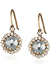 Kalan by Suzanne Kalan 14k Yellow Gold, Green Amethyst, and White Sapphire Earrings