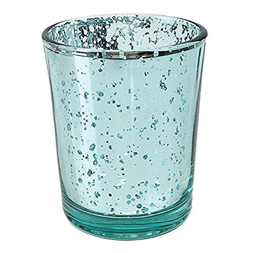 Just Artifacts Mercury Glass Votive Candle Holder 2.75'' H (72pcs, Speckled Aqua) - Mercury Glass Votive Tealight Candle Holders for Weddings, Parties and Home Décor by Just Artifacts (Image #4)