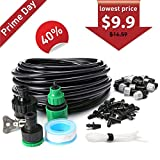 KINGSO Home Garden Patio Misting Micro Flow Drip Irrigation Misting Cooling System with Plastic Mist Nozzle Sprinkler for Plant Flower