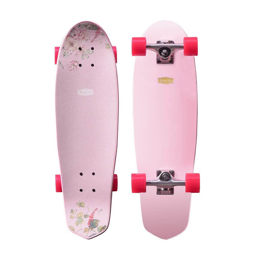 Sixty-Six 28/'/' Maple Skateboard Cruiser Complete Jidao