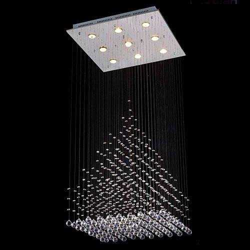 Modern Contemporary Chandelier Rain Drop Chandeliers Lighting with Crystal Balls! For Sale