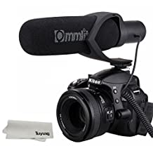 COMICA CVM-V30 Hyper-Cardioid Directional Condenser Shotgun Video Mic,Youtube Vlogging Interview Microphone For camera, camcorder, and professional video shooting equipments (Black)