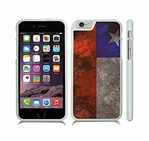 iPhone 6 Case with Chile Flag Distressed Grunge Look Design , Snap-on Cover, Hard Carrying Case (White)