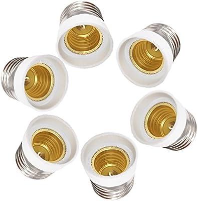 dzydzr 6 pieza Casquillo Adaptador E27 a E17 para bombillas LED