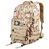Cozy Age Waterproof Backpack Military Assault Pack Tactical Backpack,One Size,Digital Desert Camo