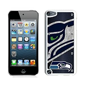 Seattle Seahawks 04 White Case for iPod Touch 5,Prefectly fit and directly access all the features