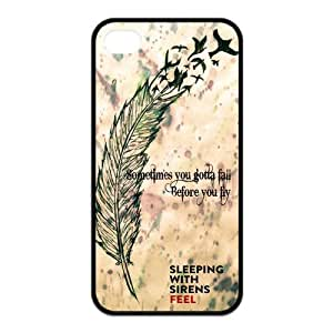 iPhone 4 / 4S Case,SWS Sleeping with Sirens TPU Rubber Phone Cases by icecream design