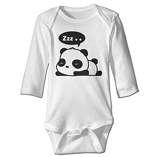 (Funny Vintage Unisex Panda Triangle Romper Baby-Boys And Girls)