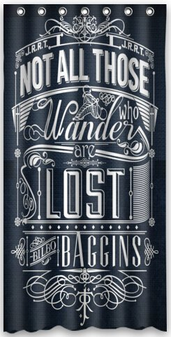 Charmant Top Design Not All Who Wander Are Lost Shower Curtain 36u0026quot;(w) X