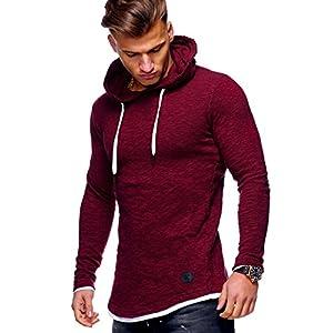 Behype Men's Sweater Jumper Hoodie Sweatshirt Pullover Longsleeve Tops MT-7428