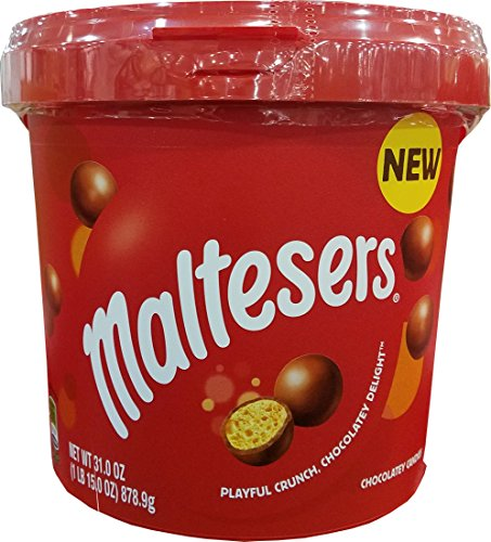 Maltesers playful crunch chocolates delight candies 31.0oz bucket by Mars