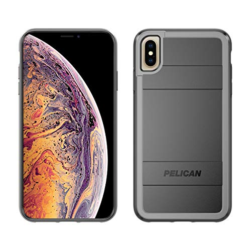 Pelican Protector+AMS iPhone Xs Max Case (Black/Light Grey) ()