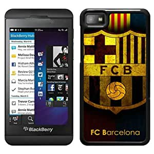 Unique Custom Designed Cover Case For Blackberry Z10 With Barcelona Black Phone Case 12