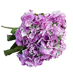 Celine lin 5 Big Heads Artificial Silk Hydrangea Bouquet Fake Flowers Bunch Home Hotel Wedding Party Garden Floral D¨¦cor 4