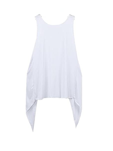 Harrystore 2017 Casual Mujeres Verano Chaleco Superior Blusa sin Mangas Tank Tops Camiseta Blanca (S