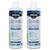 Coffee Makers Made in Usa Universal Descaling Solution for Keurig, Cuisinart, Breville, Kitchenaid, Nespresso, Delonghi, Krups and all Coffee and Espresso Machines (Made in the USA) - 2 Uses Per Bottle (2 Pack) - By Brewslang