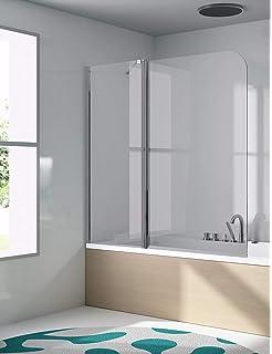 Mampara de vidrio auténtico, tabique para bañera y ducha ...