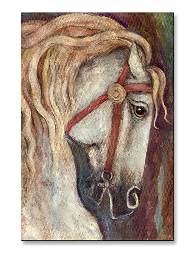 All My Walls 0101ME00004 Metal Wall Hanging 'Carousel Horse' Sculpture Painting Home Decor