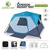 ALPHA-CAMP-6-Person-Instant-Cabin-Tent-CampingTraveling-Family-Tent-Lightweight-Rainfly-with-Mud-Mat-10-x-9-Blue