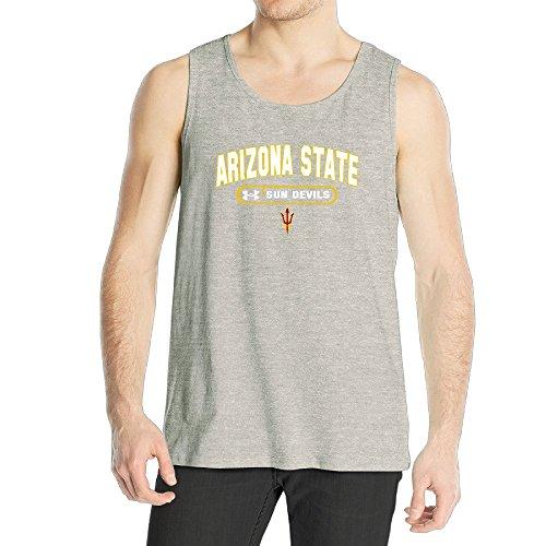Men's Arizona State Sun Devils Asu Pitch Forck Tank Top Ash (Devil Man Adult Vest)