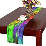YUMOING Dance Disco Movement Color Structure Polyester Table Runner 16x72 Inches,watercolor Painting Rectangle Table Cloth Placemat For Office Kitchen Dining Wedding Party Home Decor