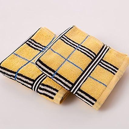 QUEENS Pack de dos toallas de algodón satén de algodón absorbente de tela suave y confortable