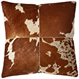 Safavieh Pillow Collection Throw Pillows, 22 by 22-Inch, Carley Tan and White, Set of 2