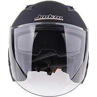 HOMYL Motorcycle Helmet 3/4 Open Face Helmet with Shield - Pick Size & Color - Matte Black L