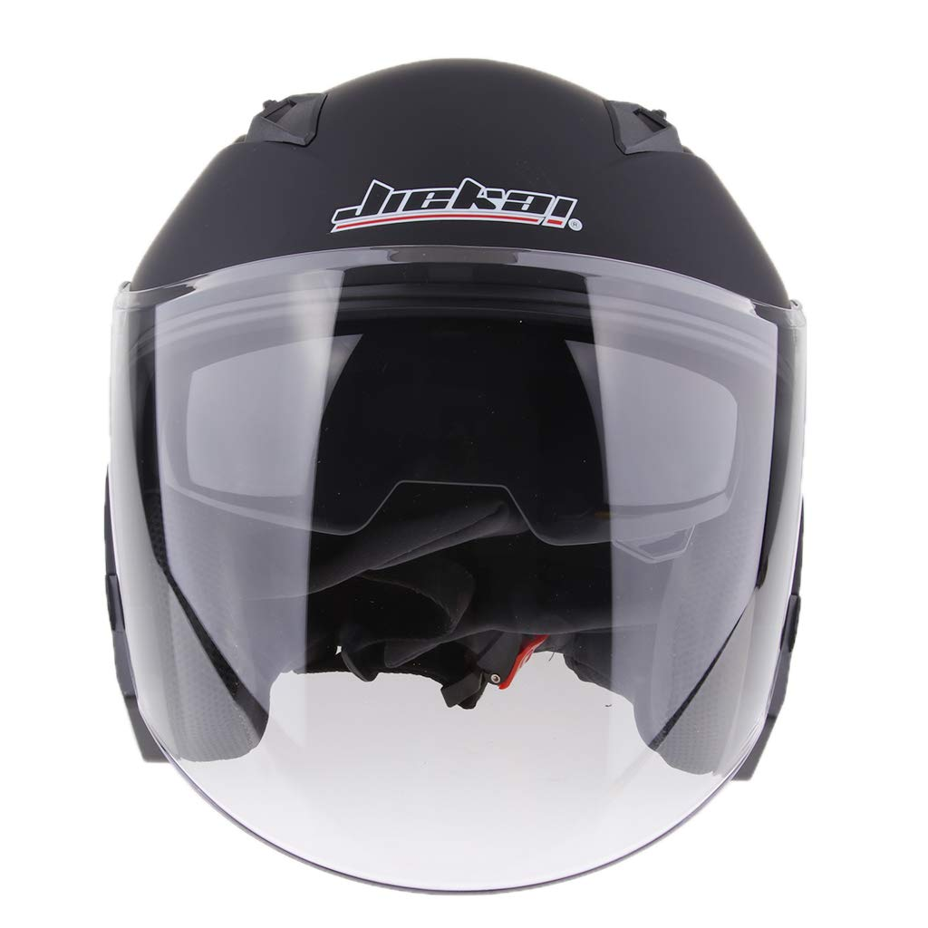 Glossy Black M D DOLITY 3//4 Open Face Classic with Sun Visor Motorcycle Scooter Helmet M//L//XL//XXL