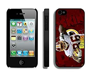 NFL Washington Redskins Fred Davis iphone 4 4S Casecell phone cases&Gift Holiday&Christmas Gifts NFIU8714992