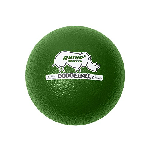 Champion Sports Rhino Skin Low Bounce Dodgeball, 6-Inch - Set of 6, Multi-Color