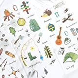 3 Set(18 Sheet) Travel Camping Equipment Light Tent