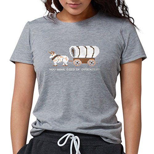 Cafepress Oregon Trail  You Have Died O T Shirt   Womens Tri Blend T Shirt