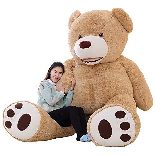 7 Ft Teddy Bear (IKASA Giant Teddy Bear Plush Toy Stuffed Animals 6.5 Foot (Brown, 78)