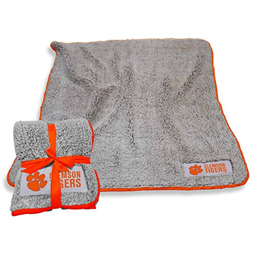 Logo Clemson Tigers NCAA Frosty Fleece 60 X 50 Blanket - Team Color,