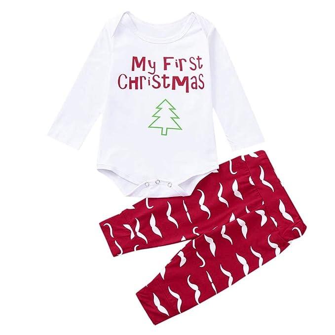 POLP Niño Regalo Navidad Bebe Pijama Rojo Navidad Bebe Disfraz Ropa  Invierno Bebe niña Unisex Manga 8aed014cd780
