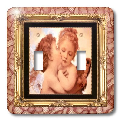 3dRose LLC lsp_21234_2 Angels Kissing, Double Toggle Switch ()