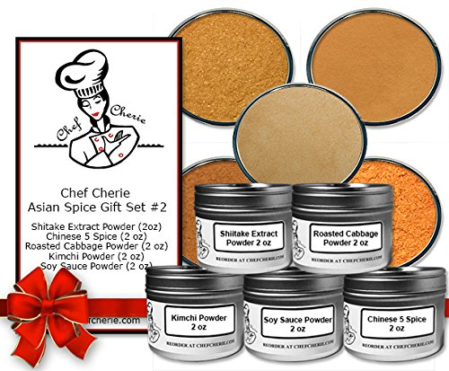 Chef Cherie's Asian Spice Gift Set #2 - Contains 5 2 oz. Tins