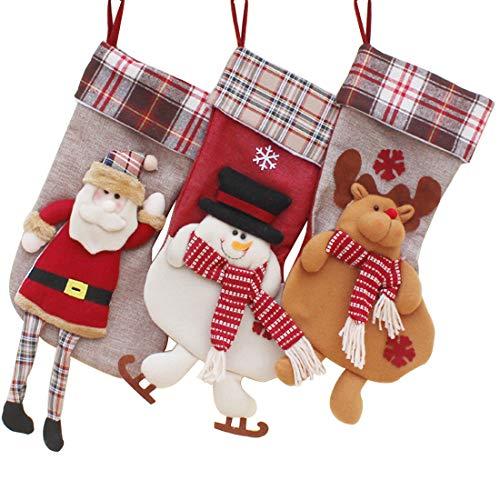 Christmas Stockings Decorations 3D Applique 17