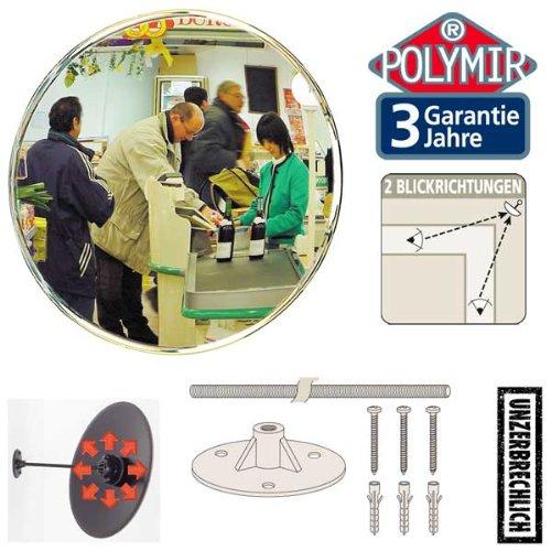 Vialux de surveillance de Sécurité Miroir convexe incassable–interne Shop Miroir–30cm 103