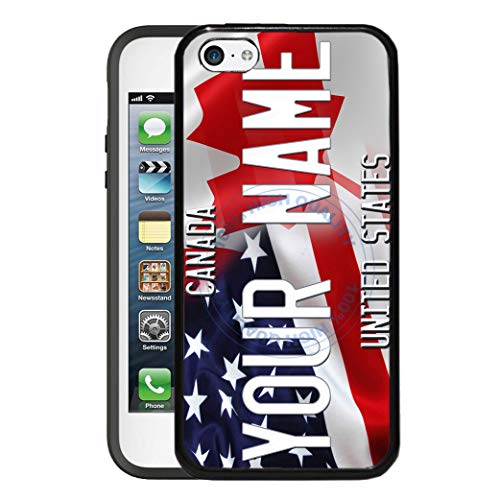 BRGiftShop Customize Your Own Mixed USA and Canada Flag Rubber Phone Case for Apple iPod Touch 5th & 6th Generation (Ipod Case Drake)