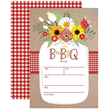 amazon com baby bbq invitation baby shower invite baby q barbeque