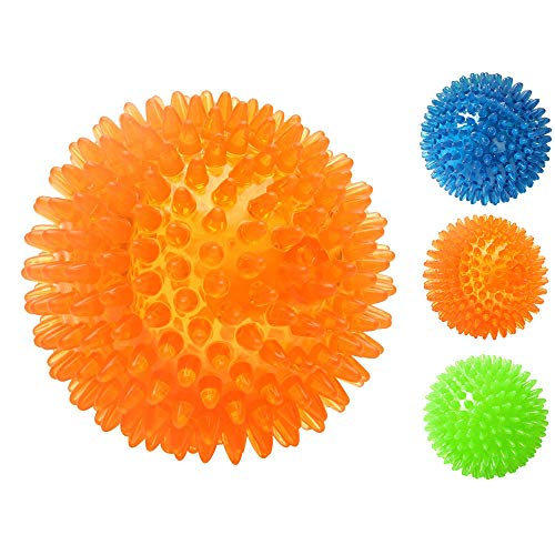GrayCell Dog Squeaker Squeaky Toy Play Ball with High Bounce for Small Medium Large Aggressive Chewers